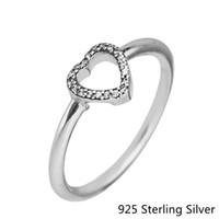 серебряное головоломное кольцо оптовых-Кольца, совместимые с Pandora ювелирные изделия головоломки сердце кадр серебряное кольцо для женщин оригинальный 100% стерлингового серебра 925 ювелирные изделия кольцо оптом