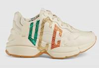 sapatos de couro nubuck venda por atacado-Rhyton Designer Botas de luxo sapatos de couro botas de grife sapatos de papai botas de luxo sapatos geninue tamanho de couro us5-us10 com caixa recept