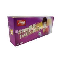 Wholesale dhs ball star - 30 PCS DHS 1-Star D40+ White Table Tennis Balls