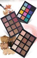fard à paupières à haute pigmentation achat en gros de-En gros 12 couleurs Haute pigment Matte paillettes fard à paupières Maquillage fard à paupières palette cosmétiques surligneur maquillage