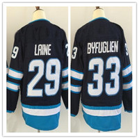 Wholesale Discounted Hockey Jerseys - 2018 New mens Sports Outdoors 26 WHEELER 29 LAINE 33 Stitched Hockey Jersey,Discount Cheap Athletic Hockey Wear from yakuda 's