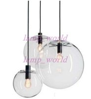 Wholesale Hanging Glass Lamp Shades - Modern Nordic Lustre Globe Pendant Lights Glass Ball Lamp shade Hanging Lamp E27 Suspension Kitchen Light Fixtures Home Lighting