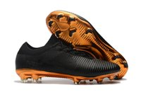 Wholesale high ankle shoes men height for sale - Original Black Gold Soccer Cleats Mercurial Vapor Ultra FG Soccer Shoes Mens High Ankle Football Boots Cheap Price