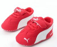 18 aylık ayakkabı toptan satış-Bebek Yürüyor Yumuşak Sole Kanca Döngü Prewalker Sneakers Erkek Bebek Kız Beşik Ayakkabı Yenidoğan 18 Ay