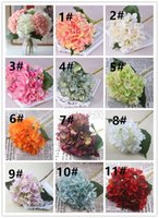 Wholesale wholesale artificial hydrangeas for wedding - High Quality Artificial Hydrangea Flower Fake Silk Single Real Touch Hydrangeas for Wedding Centerpieces Home Party Decorative Flowers