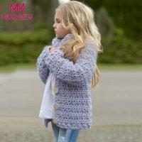 chaquetas infantiles de punto al por mayor-MUQGEW 2018 chaquetas de invierno para niñas niños niños niños niñas bebé traje de ropa botón de punto suéter Cardigan Coat Tops