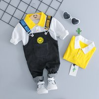 60a24f9d1 Wholesale smiley face t shirt online - 2018 Autumn Girl Boy Clothing Sets  Baby Clothes Suits