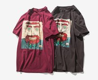 Wholesale moustache s - New Summer Male T Shirt Moustache Uncle Printed Short Sleeves Crew Neck Funny Hip Hop Tee