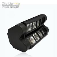 party-scanner beleuchtung großhandel-Zita Lighting LED Moving Head beleuchtet Spinnen-Lichtstrahl-Scanner-Stadium, das RGBW buntes Party-Tanz DJ Disco-Lichteffekt 8X3W DMX512 beleuchtet