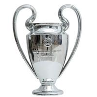 türkis schwarze hochzeit dekorationen großhandel-11,5 kg 77 cm voller Größe Champions League kleine Trophäe Fußball Fans für Sammlungen Metall Silber Farbe Wörter mit Madrid
