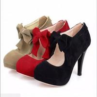 bottes à talon haut achat en gros de-2019 nouvelle arrivée bout rond noeud papillon creuse stiletto mince talon haut bottes rose gris bottes femmes chaussures de mariage