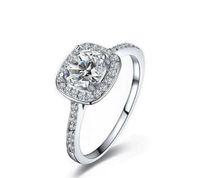traje ajustado arriba al por mayor-Los anillos del banquete de boda de la plata esterlina 925 de la venta superior con el anillo del zirconia cúbico ajustan el juego de las mujeres joyería fina de Pandora KKA1931 al por mayor