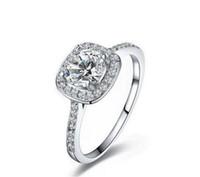 pandora zirkonoxid ring großhandel-Meistverkaufte 925 Sterling Silber Hochzeit Ringe mit Zirkonia Ring Fit Anzug Frauen Pandora edlen Schmuck Großhandel KKA1931