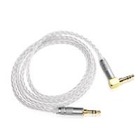 kablo olayı toptan satış-Hifi 3.5mm Jack AUX Kablo Yüksek Kalite 7N OCC Siver-kaplama 3.5mm Erkek Için 3.5mm Erkek Ses Kablosu Hoparlör Kablosu