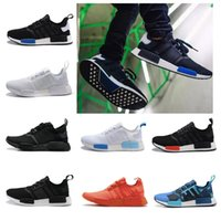 Wholesale Love Deeper - Cheap love NMD Runner R1 Primeknit Black Triple Run Running Shoes Men & Women Lover's Lightweight Breathable Athletic outdoor Sports Shoes