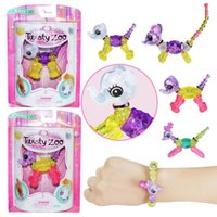 Wholesale pet toys for girls - 4 Style Girls Twisty Petz Collectible Bracelet Set elk elephant mouse Dog DIY Make Bracelet or necklace Twist into a Pet for Kids toy MMA851