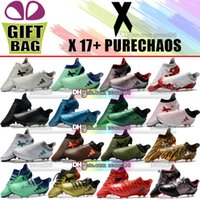 Wholesale cheap original cleats online - Original Mens Leather Football Boots X Purechaos FG Soccer Shoes Outdoor X Pure Chaos Soccer Cleats Cheap Football Shoes