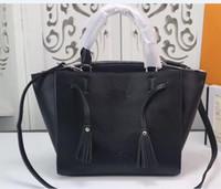 Wholesale leather hobo shopping bags online - women messenger bag shopping bag shoulder bags totes handbags hobos real leather m54569 m54570 m54571