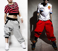 sackige schweißhose großhandel-Mens Womens Hosen Hosen Freizeit Harem Baggy Hip Hop Dance Sweat Pants Mode-Design