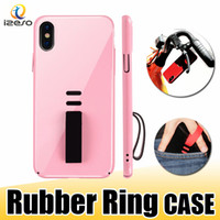 Wholesale plastic rubber phone holders for sale – best Ultra Slim Hard PC Case Candy Color Cell Phone Case with Rubber Ring Holder for iPhone X Plus Protector Shell