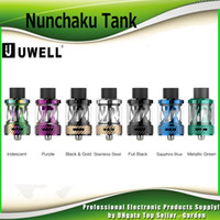 Wholesale replacement plugs - Original Uwell Nunchaku Tank Atomizer with 5ml Plug-Pull Replacement Coil Separate Condensation Holder Tanks 100% Authentic