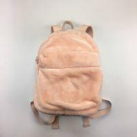 Wholesale Women Big Bags - 2018 New Arrival Rihanna Fenty Fur Backpack Men Women Bags Handbag Children Schoolbag Black Pink Grey