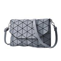 zarf crossbody cüzdan toptan satış-2018 yeni küçük katı ekose geometrik lingge zarf çanta kadın debriyaj bayanlar çanta crossbody messenger omuz çantaları SB012