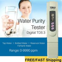 wasser ppm stifte großhandel-Digitale TDS Meter Monitor TEMP PPM Tester Stift LCD Meter Stick Wasser Reinheit Monitore Mini Filter Hydroponische Tester TDS-3 GGA543