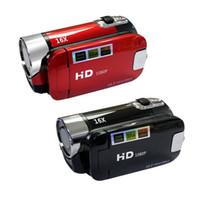 wireless versteckte spion kamera cctv großhandel-2018 fabrik direkt sales16 X Digitaler Zoom Full HD 16MP 1080 P Digitalkamera DSLR Video Camcorder DVR Recorder Unterstützung 32 GB Sd-karte
