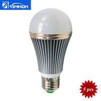 mr16 led smd 12v ac achat en gros de-Ampoule à LED 12W 9W 7W Ampoule 110V 220V E27 Pied de lampe Blanc chaud Blanc blanc naturel