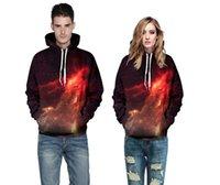 galaxy print mens sweatshirt großhandel-Hohe Qualität 3D Hoodies Mens Womens Casual Sweatshirts Space Galaxy Wolf Löwe Print Hoodie Universum Sternenhimmel Grafik Unisex Pullover