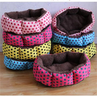 Wholesale bedding covers online - Soft Fleece Dogs Bed Super Cotton Velvet Pads Circular Point Pattern Pet Supplies Removable Creative Kennel Easy Clean xl jj
