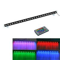 18w sel ışık toptan satış-Led duvar yıkayıcı ışık 24w 18W 12w ışıklandırmalı ip65 açık ışıkları led ışık seli ir denetleyici