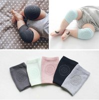 meias de segurança para bebês venda por atacado-Baby Anti Slip Knee Pads Algodão Baby Socks Para recém-nascidos Baby Safety Rastejando Cotovelo Almofada Joelho Pads Protector Leg Warmers