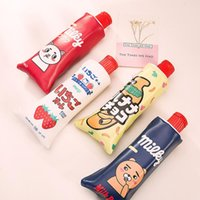 Wholesale pencil shaped pens for sale - Group buy Creative Toothpaste Shape School Pencil Bag Case With Pencil Sharpener Cute Students Pen Bag Stationery Office School Supplies