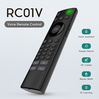 Wholesale infrared wireless keyboard mouse for sale - Group buy 2 G Wireless Voice remote control Air Mouse for Android TV Box keyboard with infrared Voice Remote Control IR Learning for smart tv