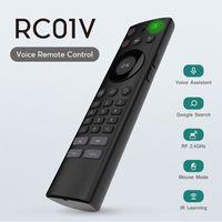 ingrosso voce del mouse dell'aria a distanza-Telecomando wireless 2.4G Air Mouse per Android TV Box tastiera con telecomando IR a infrarossi IR Learning per xiaomi smart tv