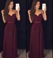 Vestidos largos de noche color uva