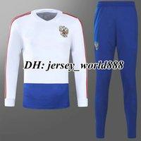 Wholesale russian suit - CHERYSHEV 2018 World Cup Russia jacket Training suit kits soccer Jersey SMOLOV DZUBA GLUSHAKOV KOKORIN DZAGOEV 18 19 Russian football shirts