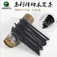 ingrosso artisti forniture-Maries Professional 25PCS carbon carbon pencil Sketch Drawing Charcoal Bar Artist Art Supply Articolo ASS014