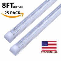 28w ledli ışıklar toptan satış-6ft t8 led tüp ışık V-Şekilli Tüp 4FT 28 W 5FT 34 W 6FT 42 W 8FT 65 W Entegre Soğutucu Kapı Led Floresan Çift Glow aydınlatma