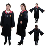 Wholesale children s fancy clothing online - Harry potter robes harry potter robes gryffindor COS dress uniforms school clothes boy girls children cosplay costumes FOR kids teenage