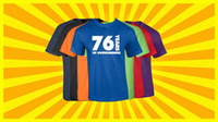 ingrosso t-shirt maniche corte-T-Shirt 76th Birthday T-Shirt Happy Birthday Funny 76 Years Tee 7 COLORI