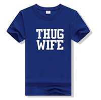 Wholesale wife black - THUG WIFE Letters Printing Men Womens T-shirt Summer Short Sleeve Casual T-shirt Men Women Couples Tops