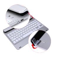 "Wholesale ipad keyboard folios - Ultra Thin Wireless Detachable Folio Bluetooth Keyboard Energy saving keyboard for iPad Air1 2 Pro 9.7"""
