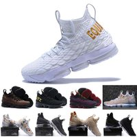 Wholesale sports shoe zippers - 2018 High Quality Newest Ashes Ghost lebron 15 Basketball Shoes shoes Arrival Sneakers 15s Mens Casual Shoes 15 40-46