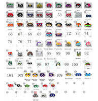 Wholesale toy goggles for sale - 108 styles New cartoon Superhero felt kid masks Fashion goggles Felt toy Halloween Christmas cosplay Wedding party children masks Captain