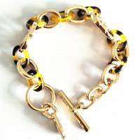 918745e47ea5 serie m combinación de aleación de resina textura hombres y mujeres pulsera  oro rosa oro plata selección de tres colores pulsera de la joyería