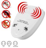 ratón ultrasónico eu al por mayor-Control de repelente de plagas por ultrasonidos Control electrónico contra mosquitos interior Ratones de plagas Control de insectos repelente de la UE EE. UU. Reino Unido ENCHUFE KKA4353
