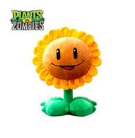 pacote de sorriso venda por atacado-Frete grátis! 1 Pçs / pacote 12 inch 30 cm Adorável Flor Plantas Vs Zombies PopCap Girassol Brinquedos De Pelúcia Quente Sorriso Amarelo